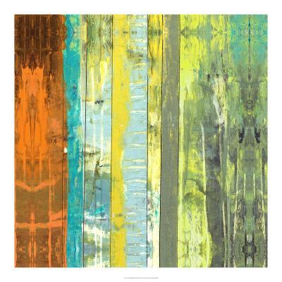 Embellished Vibrant Stripes II-Jennifer Goldberger-Art Print