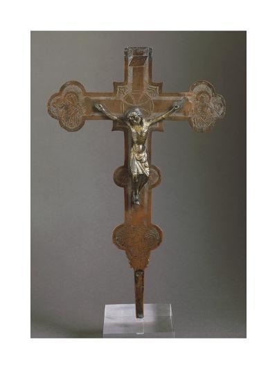 Embossed Copper Cross--Giclee Print