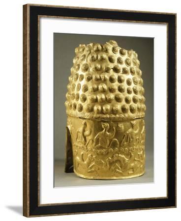 Embossed Silver Helmet, from Poiana Prahova, Romania, Geto-Dacian Civilization, 5th Century BC--Framed Giclee Print