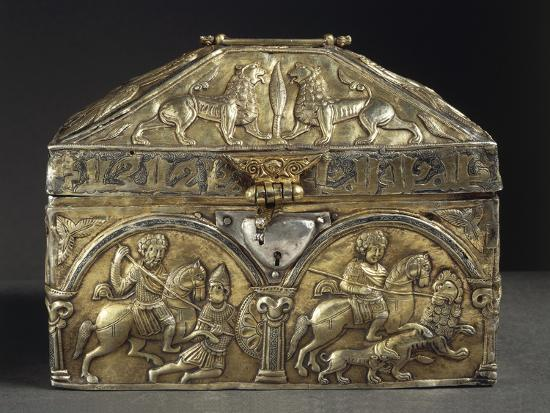 Embossed Silver Reliquary of Saint Stanislaus, 12th Century--Giclee Print