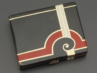 Embossed Silver Tiffany Cigarette Case with Gold Borders, 1930's Style--Giclee Print