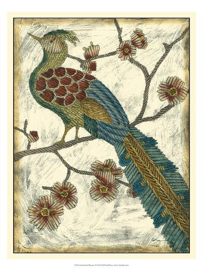Embroidered Pheasant II-Chariklia Zarris-Art Print