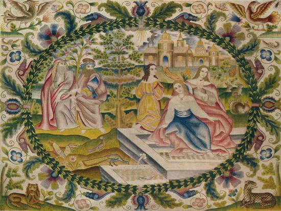 'Embroidered Picture, Mid-17th Century', (1929)-Unknown-Giclee Print