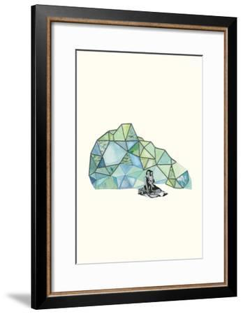 Embroidered Prism Collage 7-Natasha Marie-Framed Premium Giclee Print