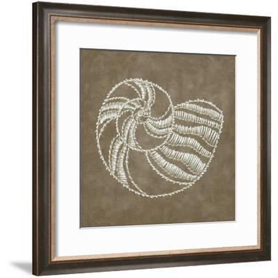 Embroidered Shells II-Chariklia Zarris-Framed Premium Giclee Print