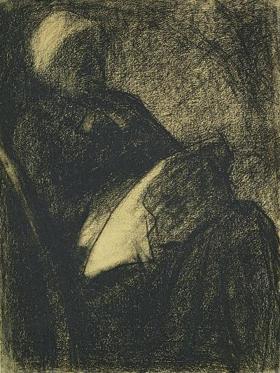 Embroiderer, 1882-Georges Seurat-Giclee Print
