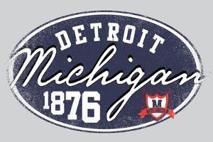 American College Michigan Graphic Man Tshirt Vector Design by emeget