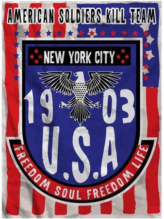 American Flag Eagle Man T Shirt Graphic Design