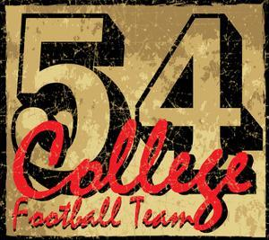 College Old Number Graphic Vector Design by emeget