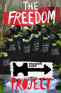 Freedom Poster Paint Collage Modern Art by emeget