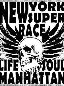 Newyork Skull College Design Man T-Shirt Vector Design by emeget