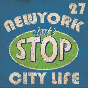 Newyork Stop Emblem Logo Graphic Design Athletic Sport Nyc Typography, T-Shirt Graphics, Vectors by emeget
