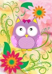 Owl and Flowers by emeget