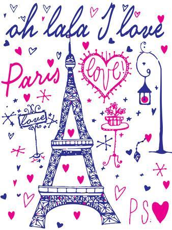 Paris Calligraphy - Set of Hand-Lettered Design Elements