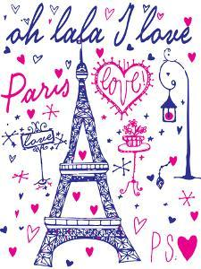 Paris Calligraphy - Set of Hand-Lettered Design Elements by emeget