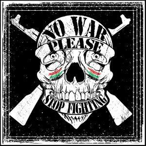 Skull Man Stop War Logo Emblem T Shirt Graphic Design by emeget
