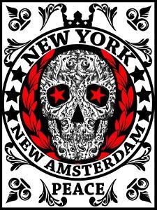 Skull New York Fun Man T Shirt Graphic Design by emeget