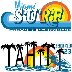 Tropical Set Miami and Tahiti by emeget