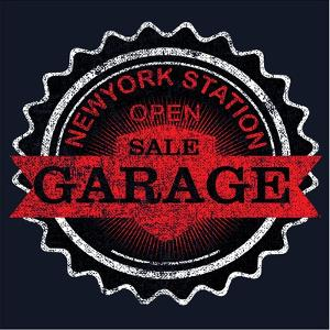 Vintage Garage Retro Label by emeget