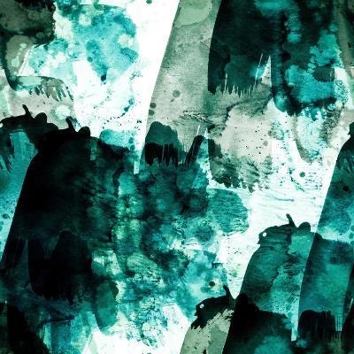 Emerald and Moss Green-Iris Lehnhardt-Art Print