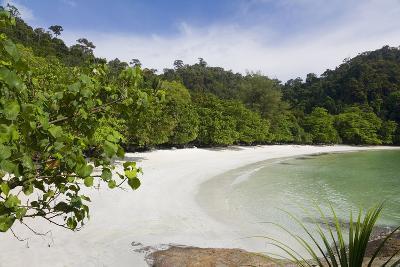 Emerald Bay, Beach and Palm Trees, Palau Pangkor Laut, Malaysia-Peter Adams-Photographic Print