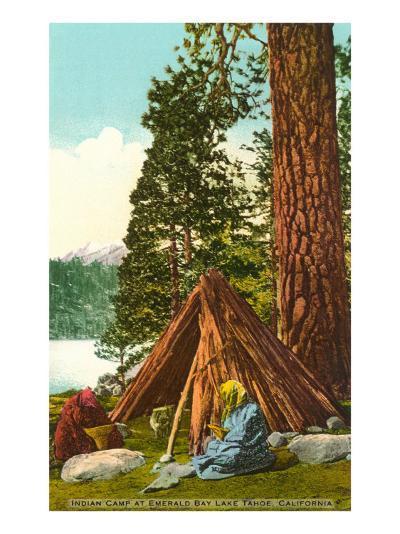 Emerald Bay Indian Camp, Lake Tahoe--Art Print