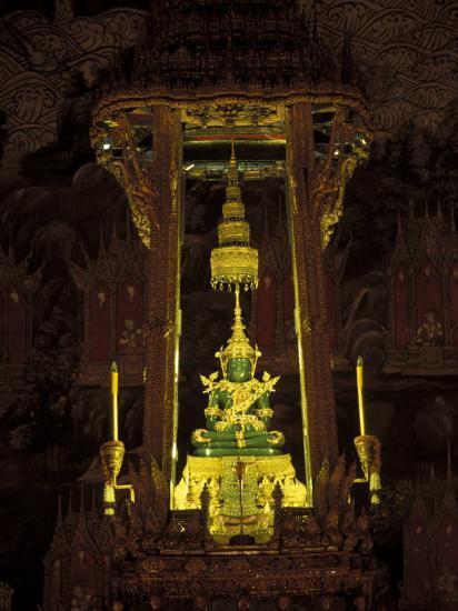 Emerald Buddha at the Grand Palace, Bangkok, Thailand-Claudia Adams-Photographic Print