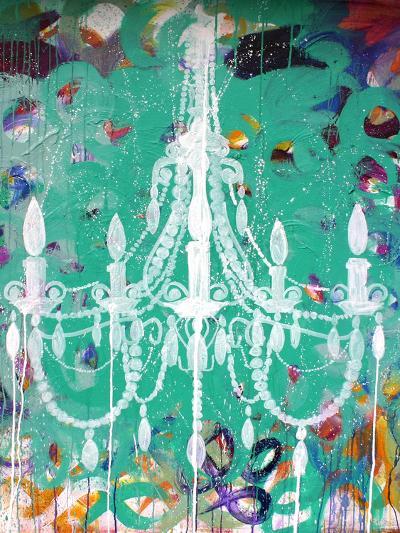 Emerald Chandelier-Kent Youngstrom-Art Print