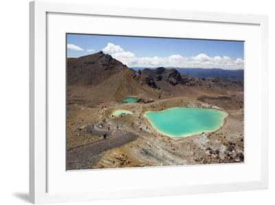Emerald Lakes on the Tongariro Alpine Crossing-Stuart-Framed Photographic Print