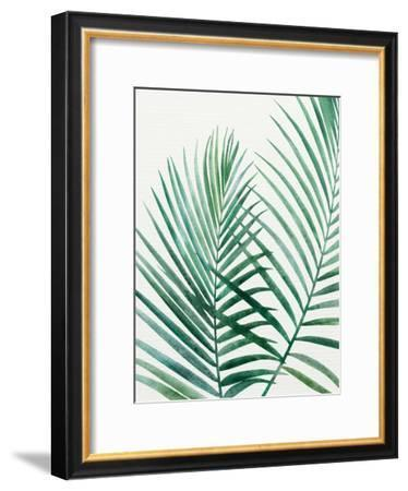 Emerald Palms-Modern Tropical-Framed Art Print