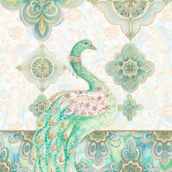 Emerald Peacock I-Janice Gaynor-Art Print