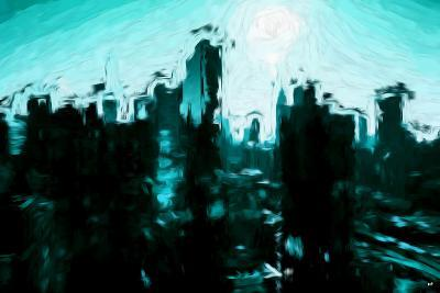 Emerald Skyline - In the Style of Oil Painting-Philippe Hugonnard-Giclee Print