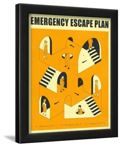 Emergency Escape Plan 2-Jazzberry Blue-Framed Art Print