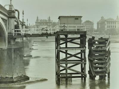 Emergency Water Supply Pump Platform, Westminster Bridge, London, Wwii, 1944--Photographic Print