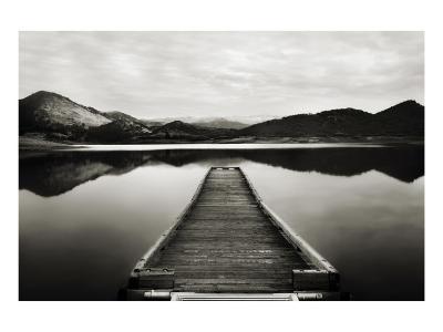Emigrant Lake Dock I in Black and White-Shane Settle-Premium Giclee Print