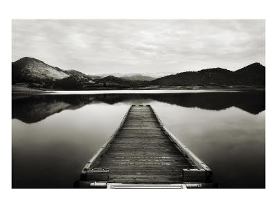 Emigrant Lake Dock I in Black and White-Shane Settle-Art Print