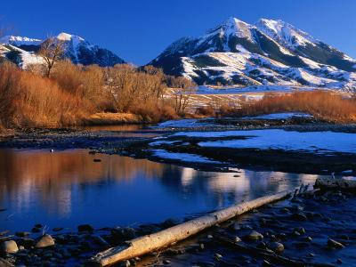 Emigrant Peak in the Absaroka Ranges, Paradise Valley, Montana, USA-Carol Polich-Photographic Print