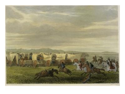 Emigrants Attacked by the Comanches-Seth Eastman-Giclee Print