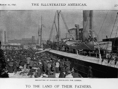 Emigrants Depart for Liberia--Giclee Print