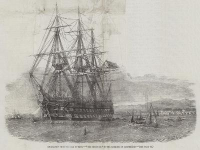 Emigration from the Isle of Skye, The Hercules in the Harbour of Campbelton-Edwin Weedon-Giclee Print