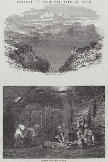 Emigration from the Isle of Skye-Samuel Read-Giclee Print