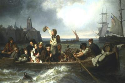 Emigration to America, 19th Century-Charles Volkmar-Giclee Print