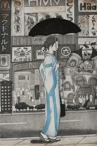 A Girl in Town, 2007 by Emiko Aida