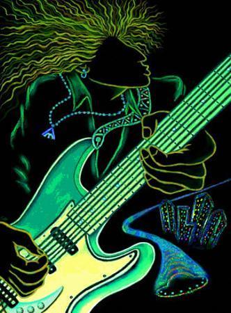 Cosmic Guitar Player