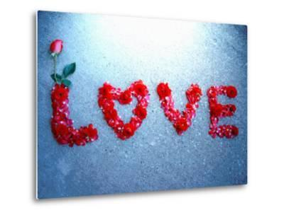 Rose Protrudes from Rose Petal Message