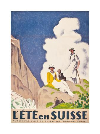 L'Ete En Suisse, Poster by the Swiss Office of Tourism, 1921