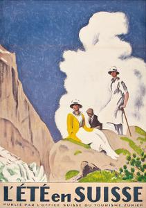L'Ete En Suisse, Poster by the Swiss Office of Tourism, 1921 by Emil Cardinaux