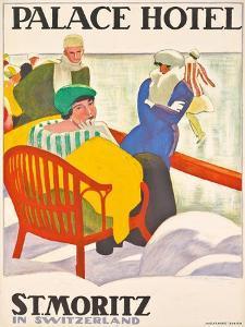 'Palace Hotel St. Moritz'. 1920 by Emil Cardinaux