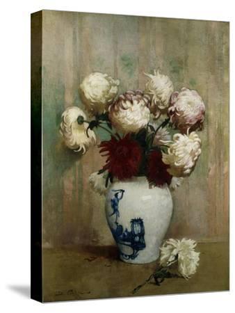 Mums in an Oriental Vase