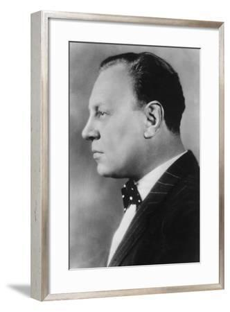 Emil Jannings (1884-195), Swiss Actor, 20th Century--Framed Photographic Print